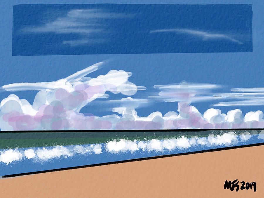 Beach Clouds by Michael Kallstrom