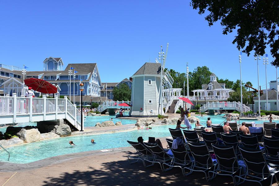 Beach Club and Yacht Club pools by David Lee Thompson