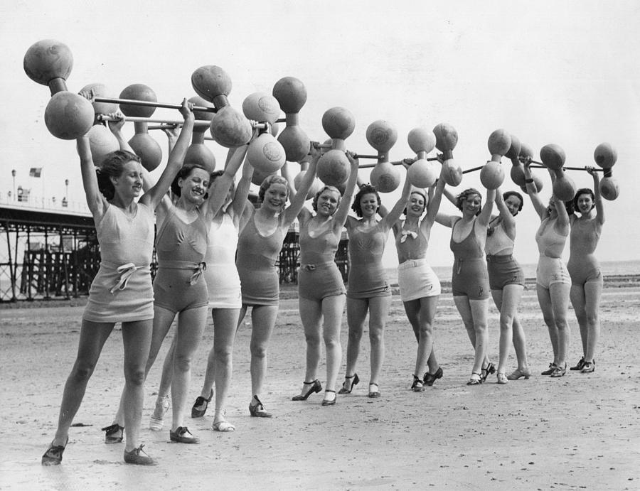Beach Exercise Photograph by William Vanderson