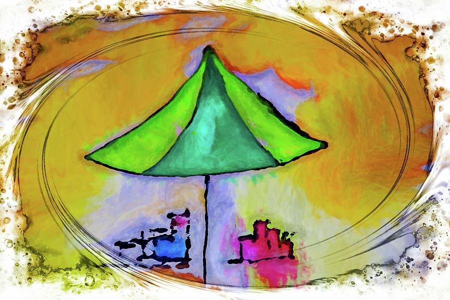 Beach Foam Umbrella by Alice Gipson