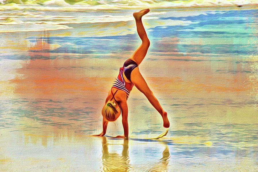 Beach Gymnastics by Alice Gipson