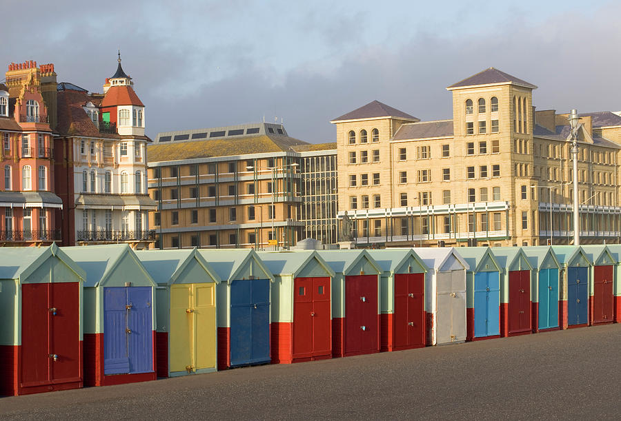 Beach Huts In Brighton Photograph by Martin Richardson/a.collectionrf
