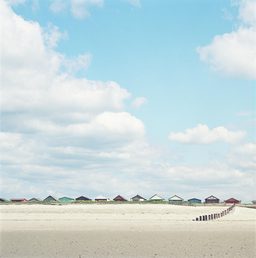 Beach Huts On Beach Photograph by Tim Hall