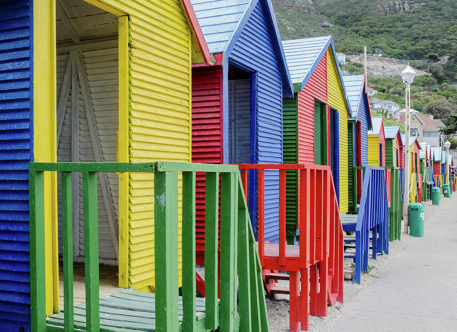 Africa Photograph - Beach Huts by Rob Huntley