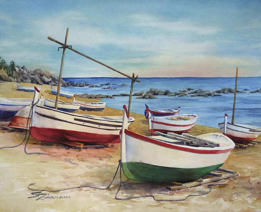 Beach Marina by Sue Zimmermann