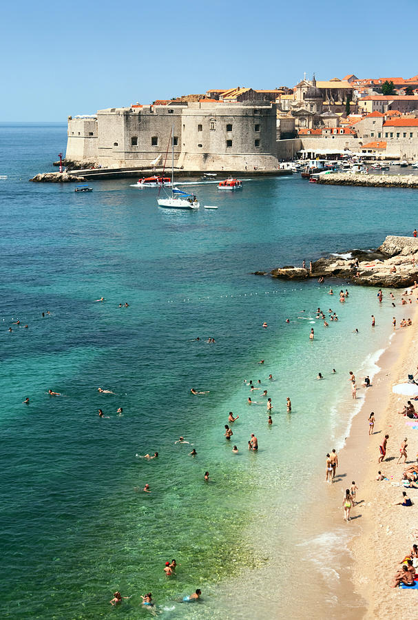 Beach Of Dubrovnik Photograph by Spooh