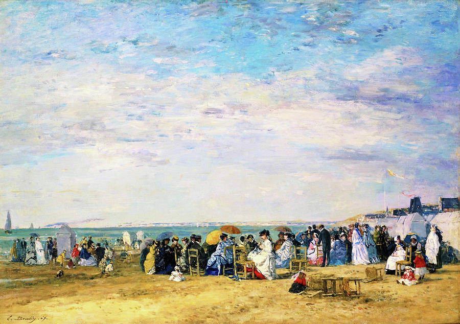 Eugene Louis Boudin Painting - Beach Of Trouville - Digital Remastered Edition by Eugene Louis Boudin