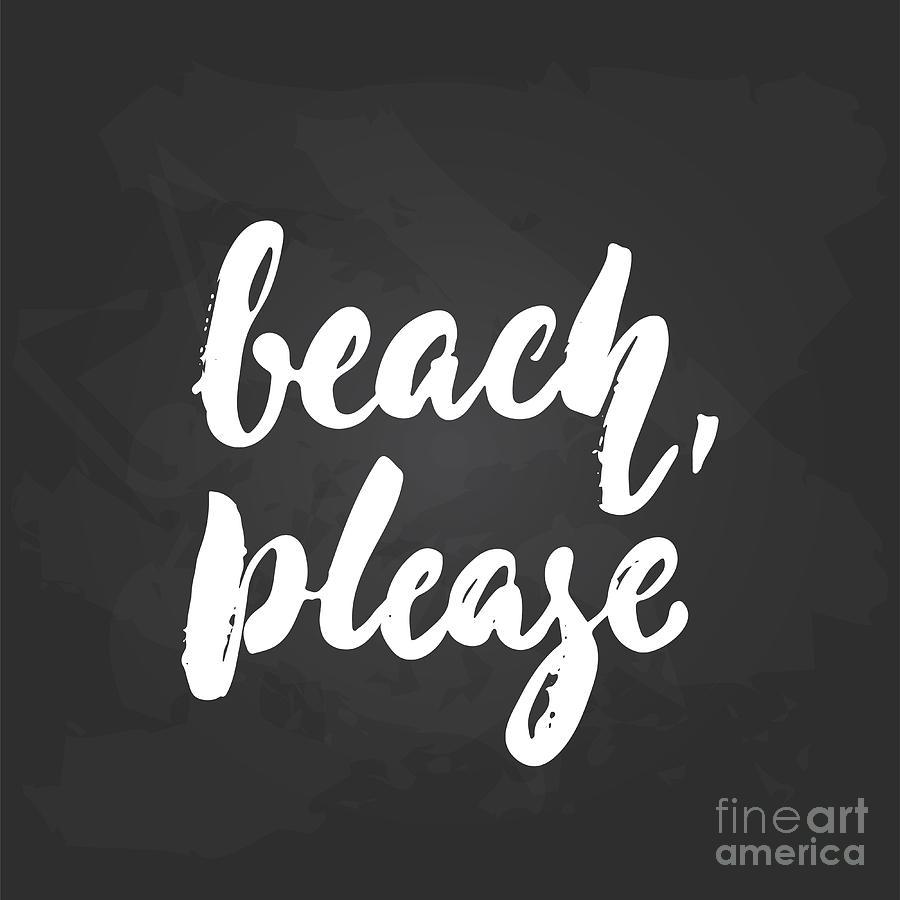 Beach, Please - Hand Drawn Seasons Digital Art by Tumana
