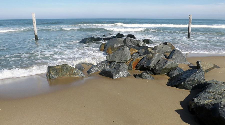 Atlantic Ocean Photograph - Beach Rocks by Joyce Wasser