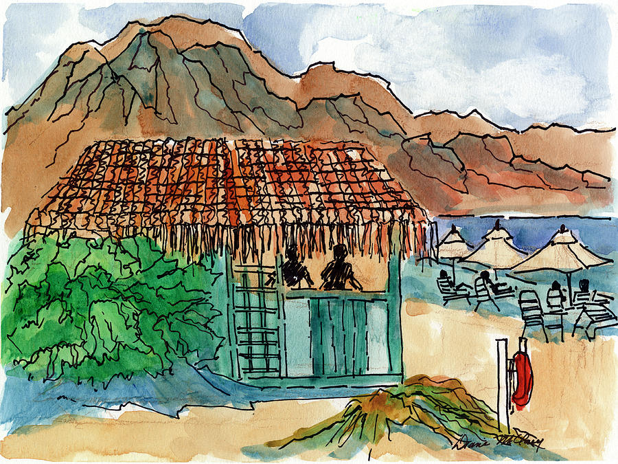 Beach Shack by Diane McClary