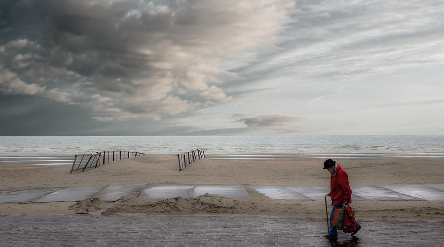 Mood Photograph - Beach Shopping by Gilbert Claes