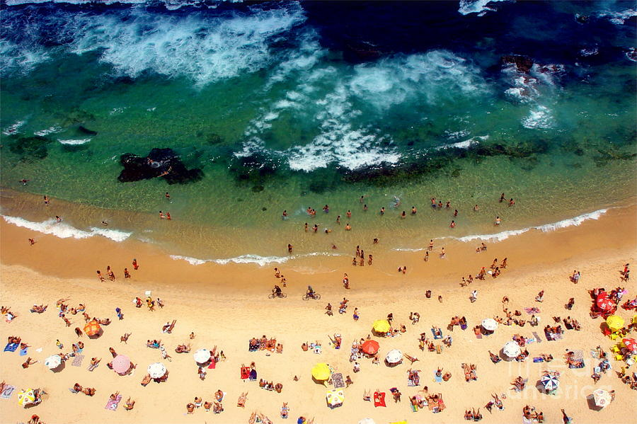 Green Photograph - Beach Smile by Vinicius Tupinamba