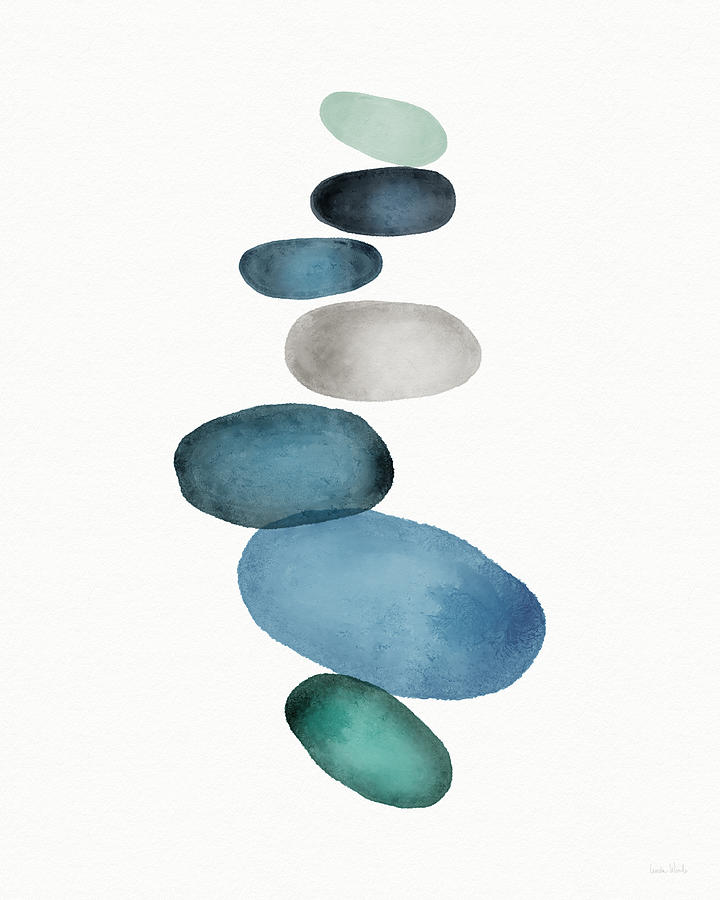 Modern Painting - Beach Stones 1- Art By Linda Woods by Linda Woods