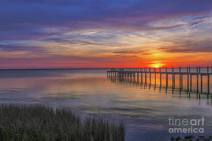 Sunset Digital Art - Beach Sunset Outer Banks Four by Randy Steele