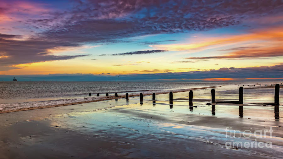 Beach Sunset Wales by Adrian Evans
