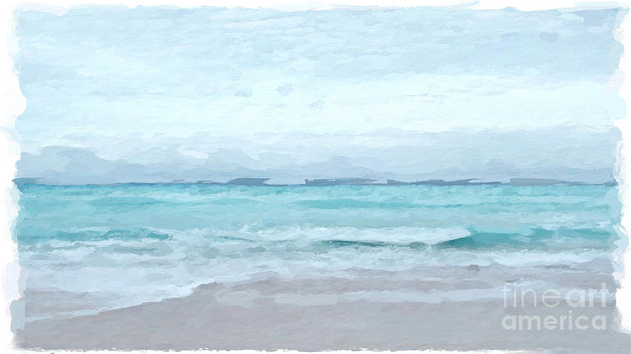 Beach Teal by ANTHONY FISHBURNE