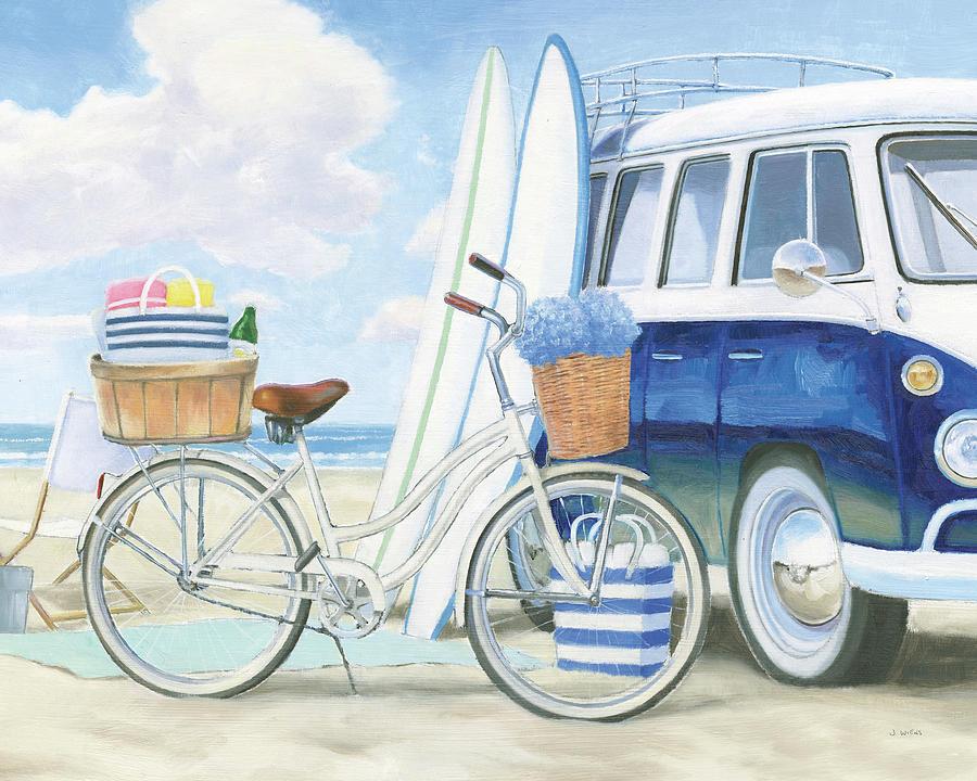 Aqua Painting - Beach Time I by James Wiens