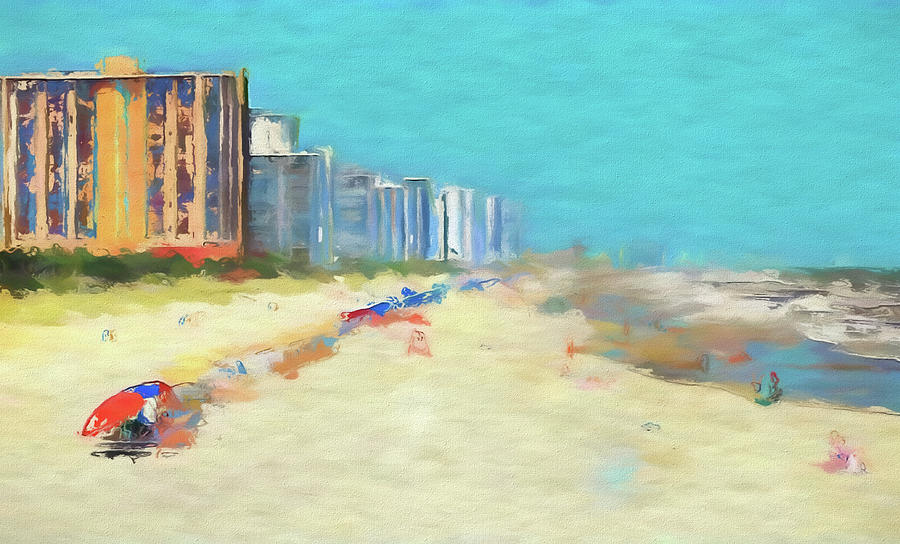 Beach Painting - Beach Vacation by Dan Sproul