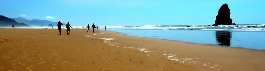 Beach Walk Wide Photograph