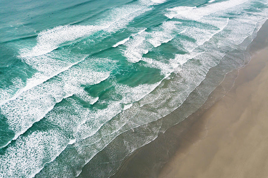 Waves Photograph - Beach Waves From Above by Lorrie Joaus