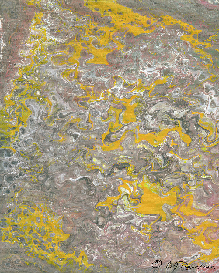 Abstract Painting - Beached by Bev Donohoe