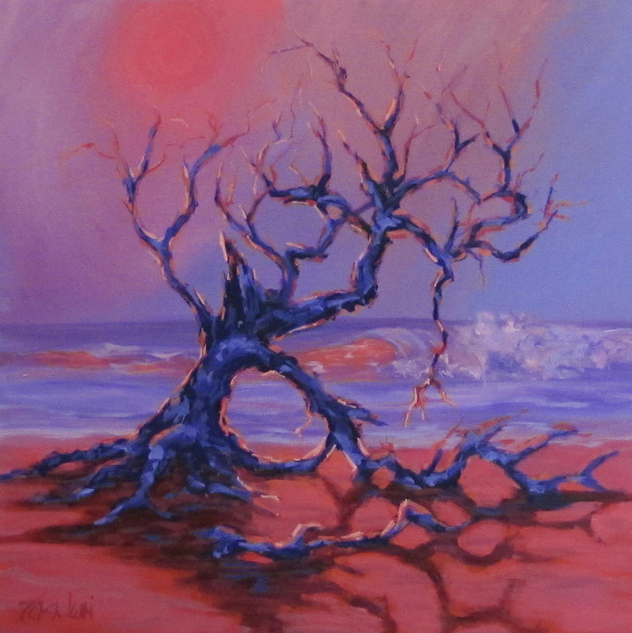 Trees Painting - Beached by Karen Ilari