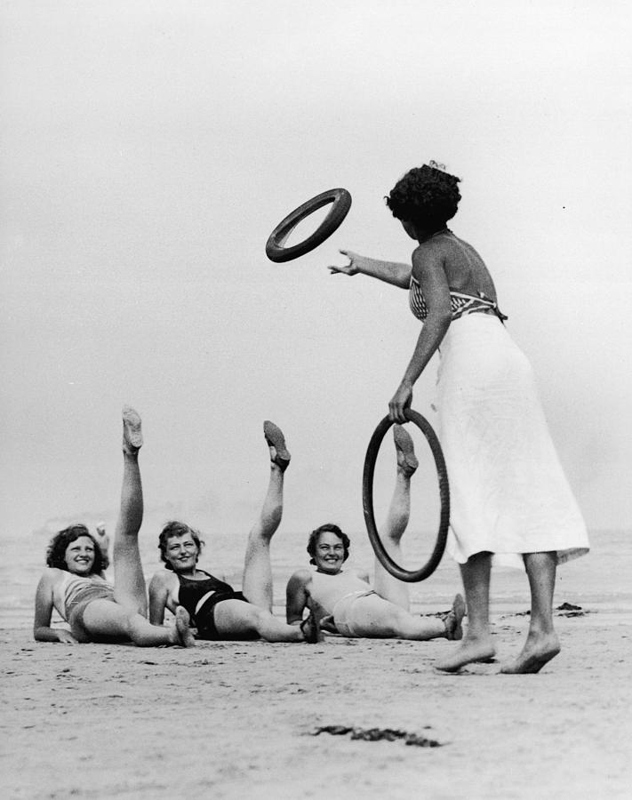Beaches, Legs & Tyres Photograph by Hulton Archive
