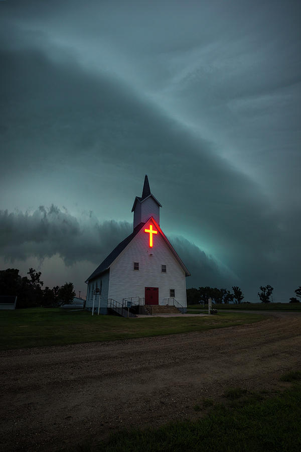 Shelf Cloud Photograph - Beacon  by Aaron J Groen