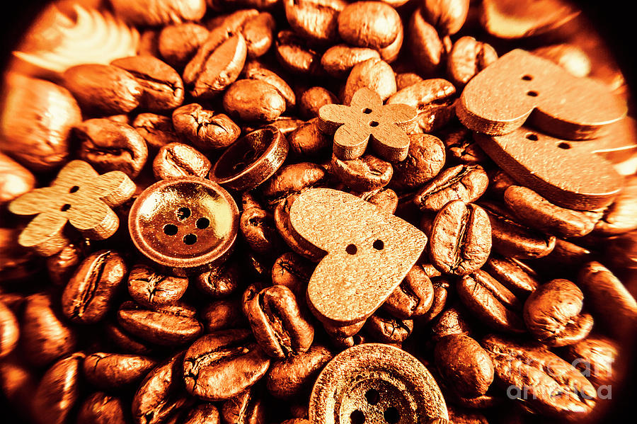 Drinks Photograph - Beans And Buttons by Jorgo Photography - Wall Art Gallery