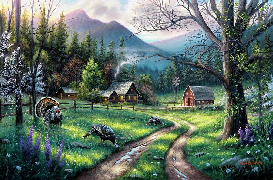 Ranch Painting - Bear Creek Ranch by Chuck Black
