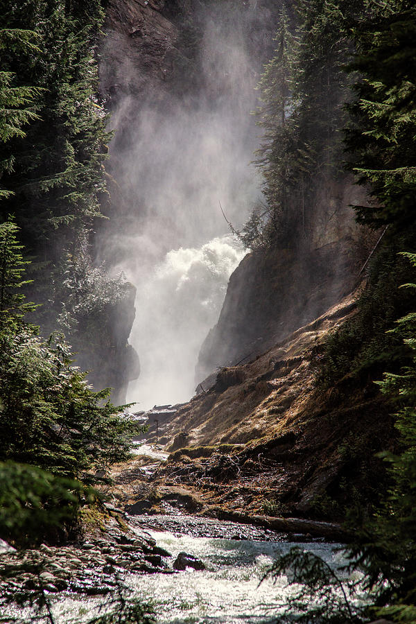 Bear Creek Spray In Color Photograph