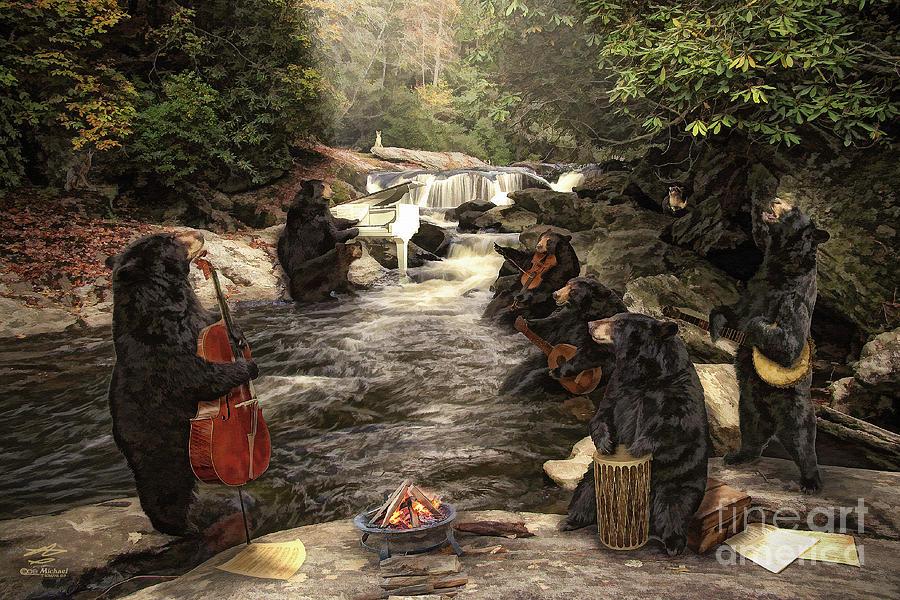 Bears Mixed Media - Bear Jam by Michael A Woodside