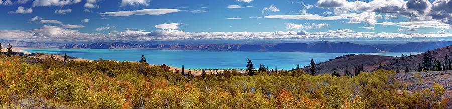 Autumn Photograph - Bear Lake Panoramic by Leland D Howard