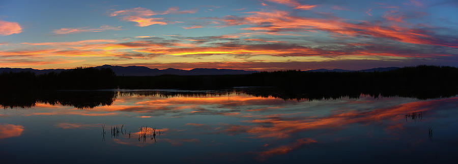 Nature Photograph - Bear River Sunset by Mavourneen Strozewski