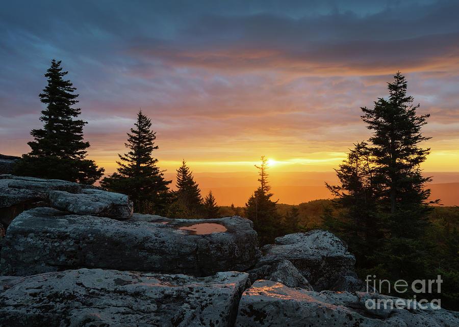 Bear Rocks Sunrise by Anthony Heflin