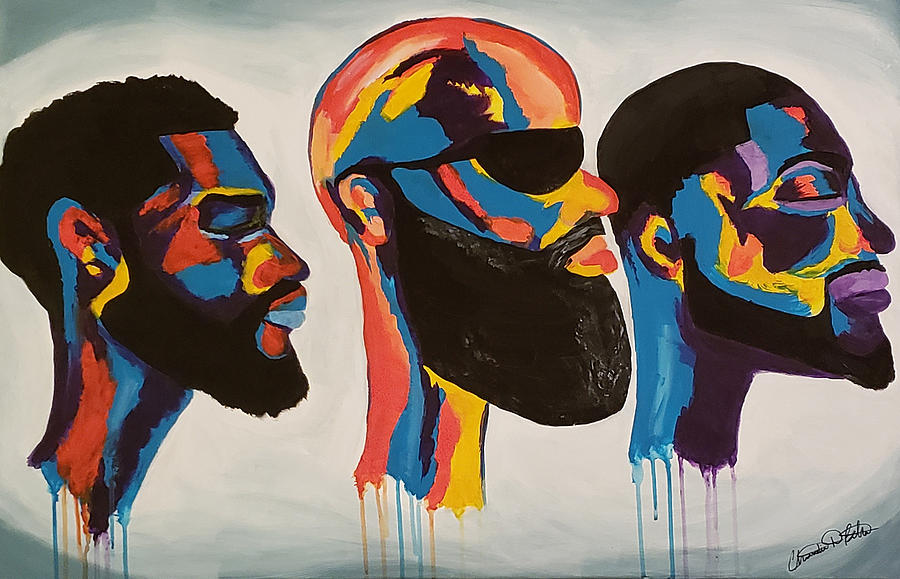 Abstract Painting - Beard Gang Matters by Christian Belton