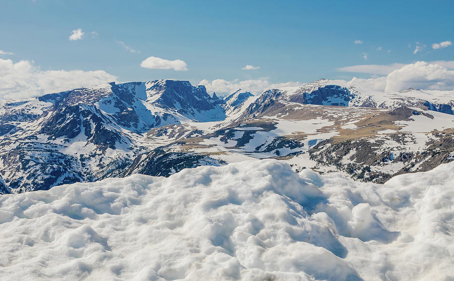 Beartooth Mountains In Snow by Dan Sproul