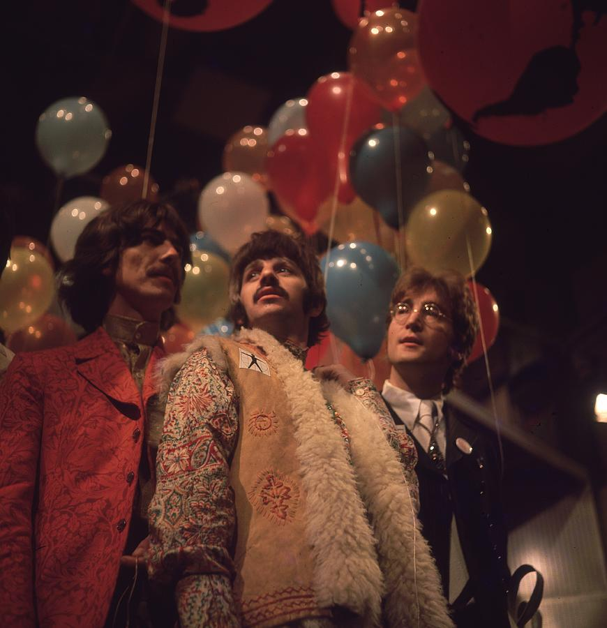 Rock Music Photograph - Beatles And Balloons by John Williams
