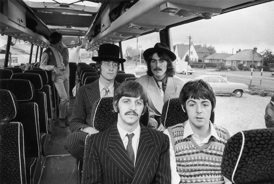 Beatles Bussing It Photograph by Potter
