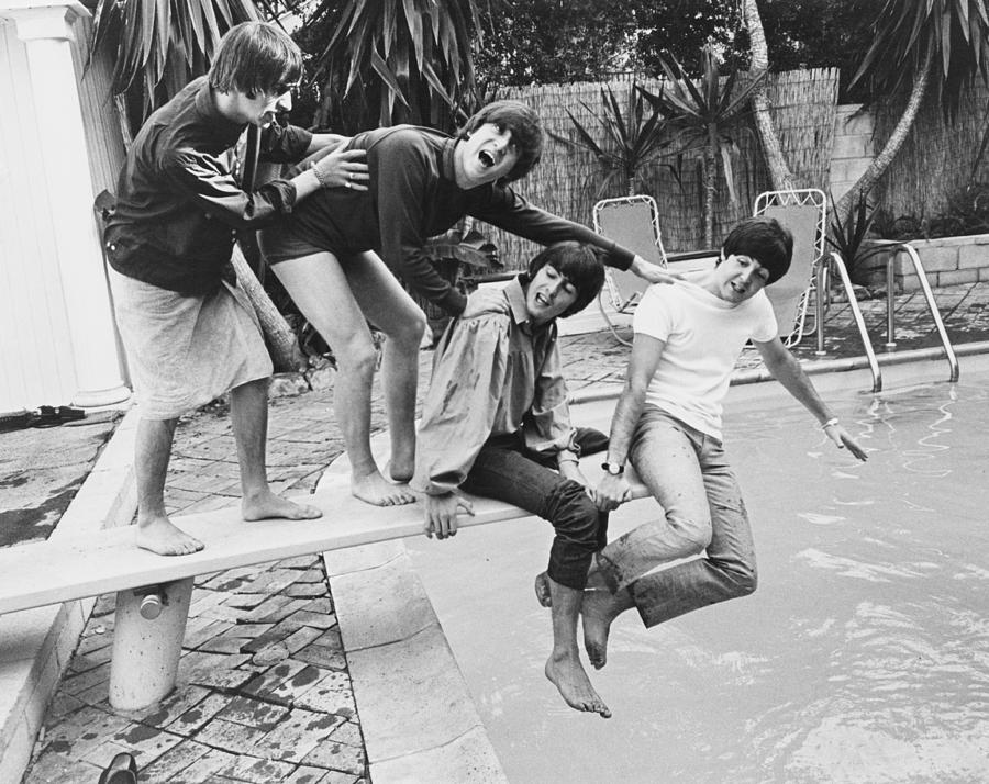 Beatles In La Photograph by Express