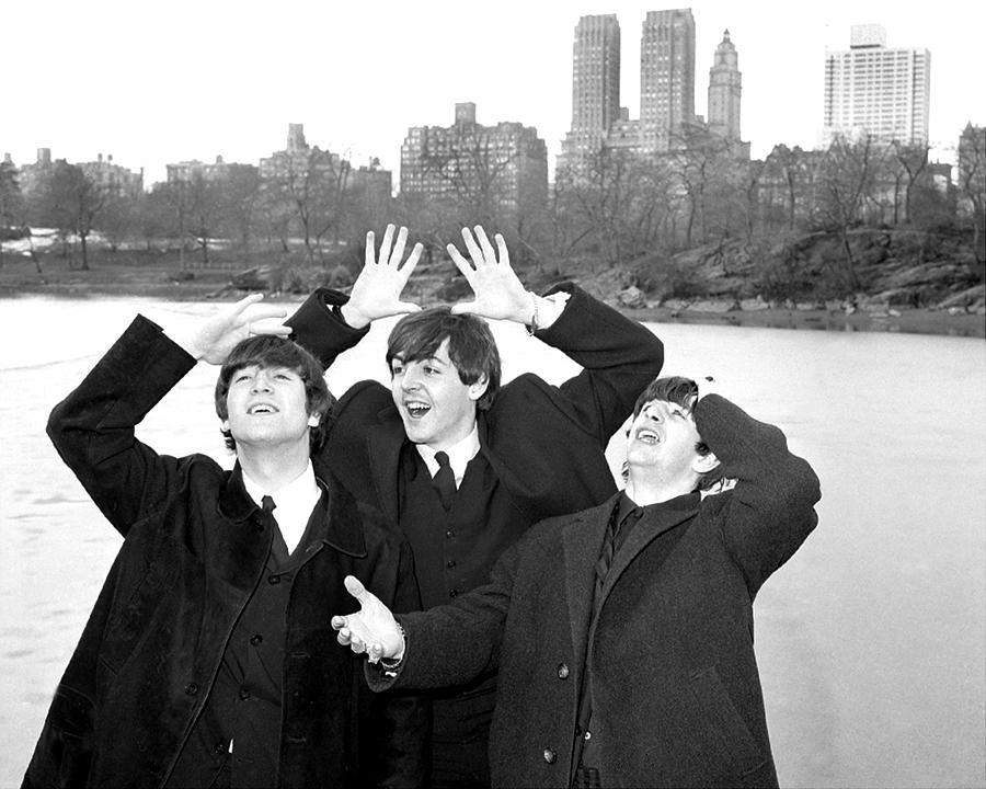 Beatles John Lennon, Paul Mccartney And Photograph by New York Daily News Archive