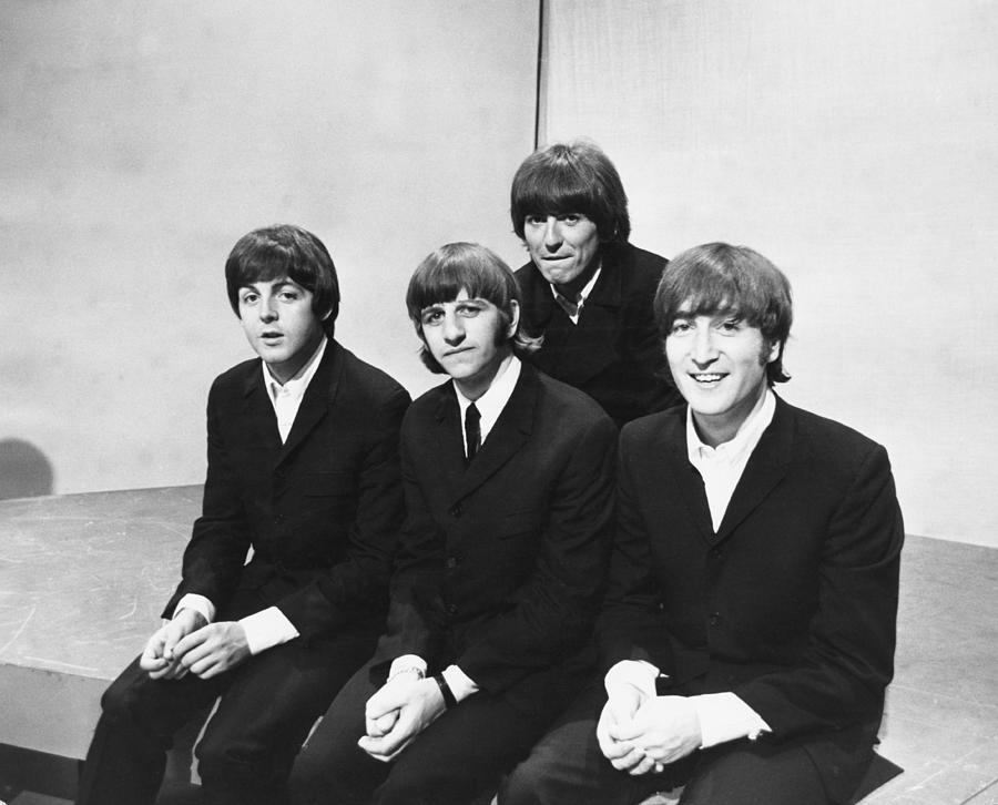 Beatles On Tv Photograph by Express