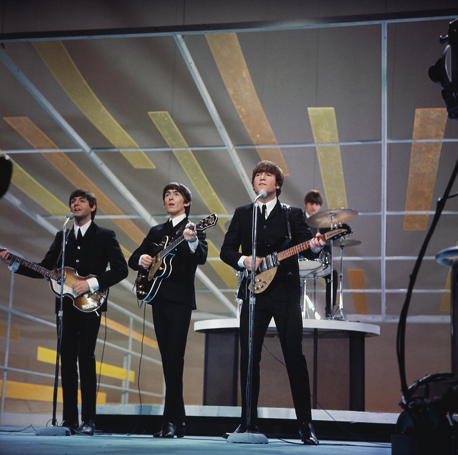 Beatles On Us Tv Photograph by Paul Popper/popperfoto