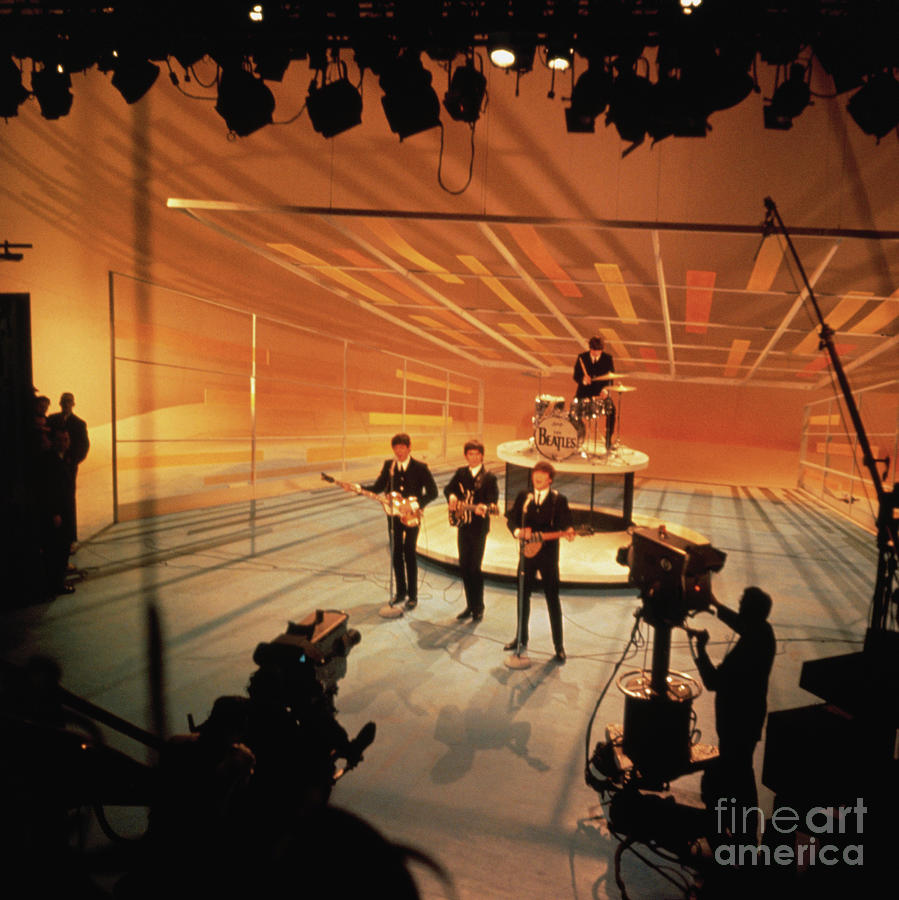 Beatles Performing On The Ed Sullivan Photograph by Bettmann
