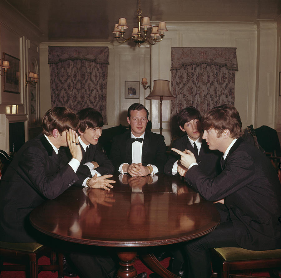 Beatles With Epstein Photograph by Paul Popper/popperfoto