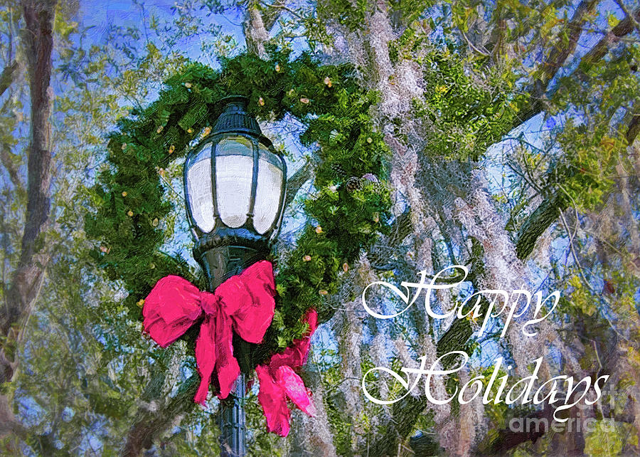 Happy Holidays Photograph - Beaufort On Holiday, Happy Holidays by Banyan Ranch Studios
