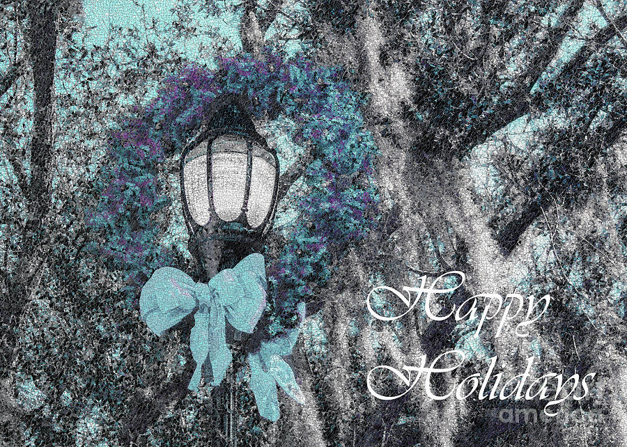 Happy Holidays Photograph - Beaufort On Holiday, Happy Holidays In White by Banyan Ranch Studios