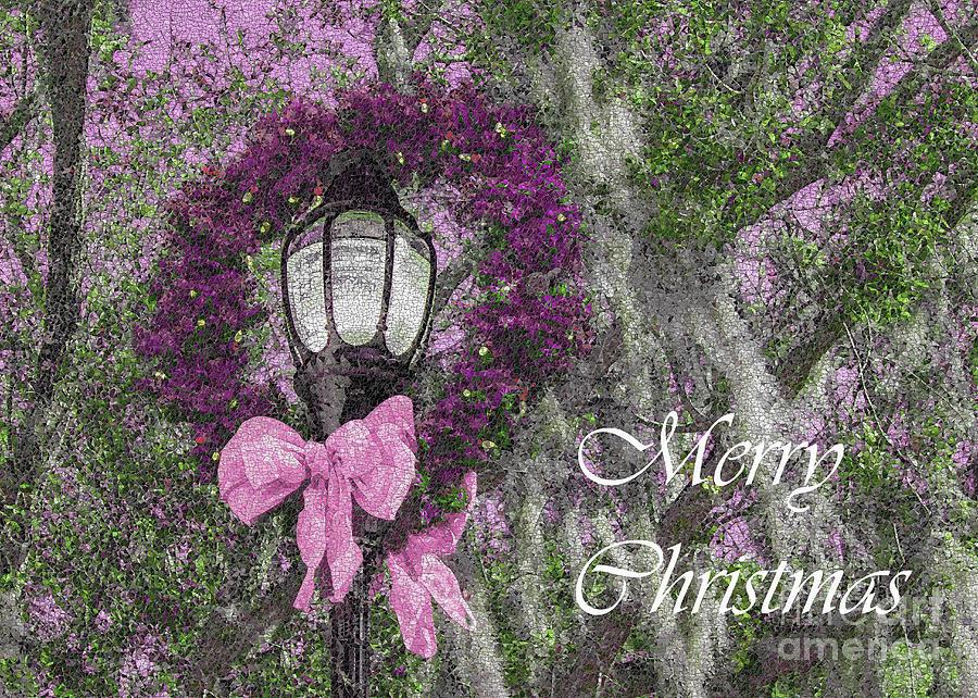 Christmas Photograph - Beaufort On Holiday, Pinks And Greens Christmas by Banyan Ranch Studios