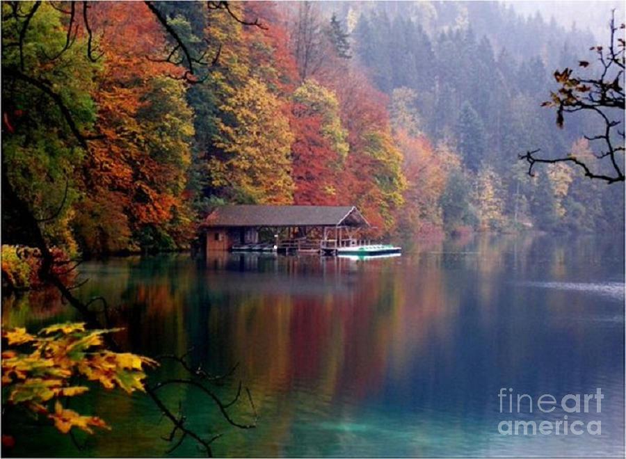 Beaujtiful B C Mountain Lake by Rod Jellison