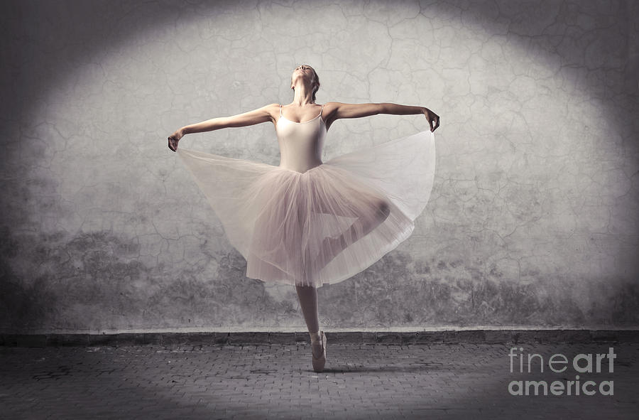 Woman Photograph - Beautiful Ballerina Dancing by Ollyy